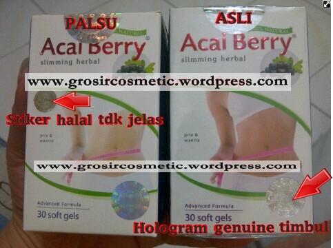 Grosir Kosmetik Obat Pelangsing Acai Berry PT Adonai Perkasa Indonesia Asli Palsu